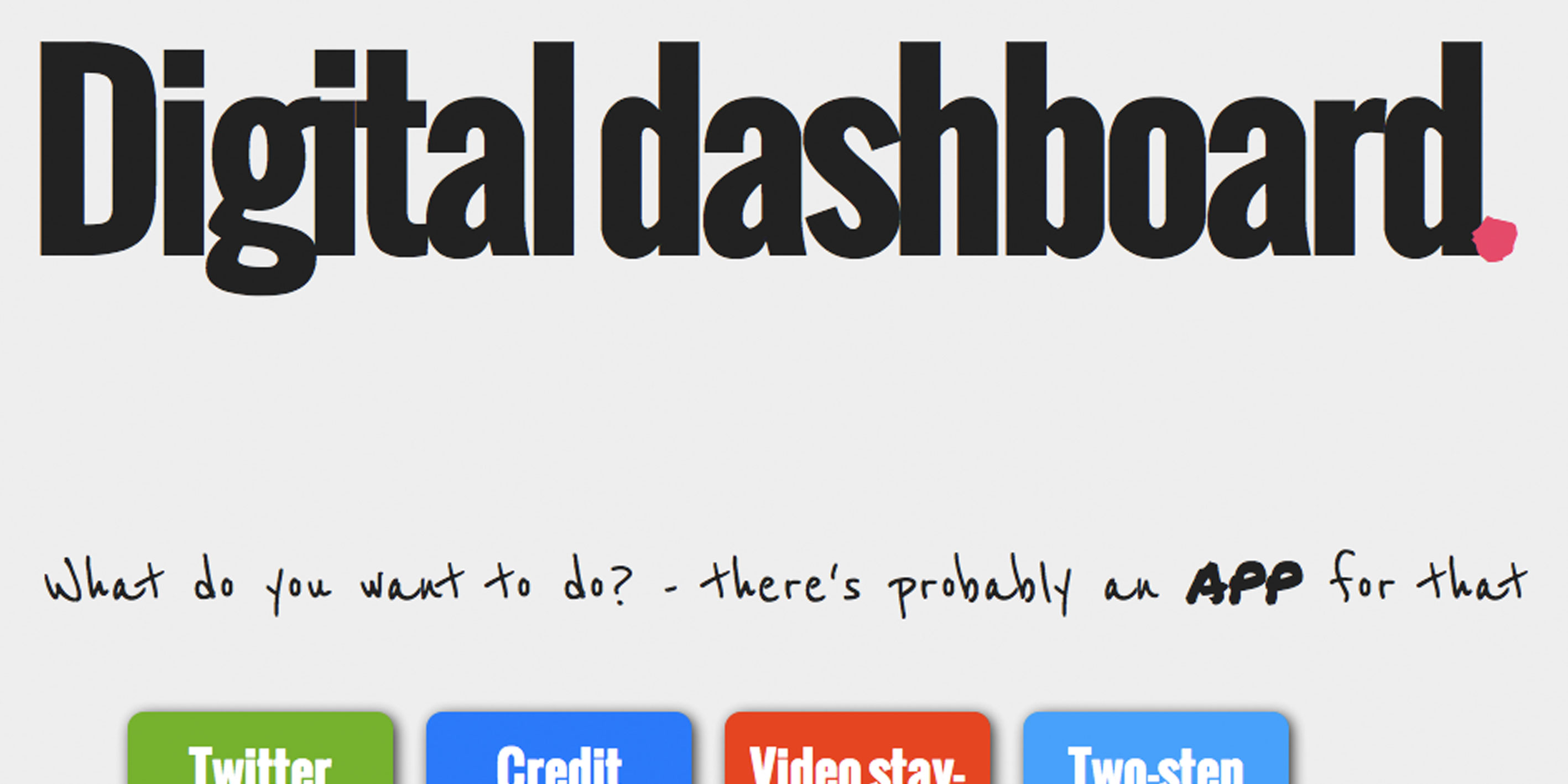 Digital dashboard of journalism tools