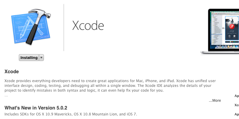 XCode, app creation software, downloading